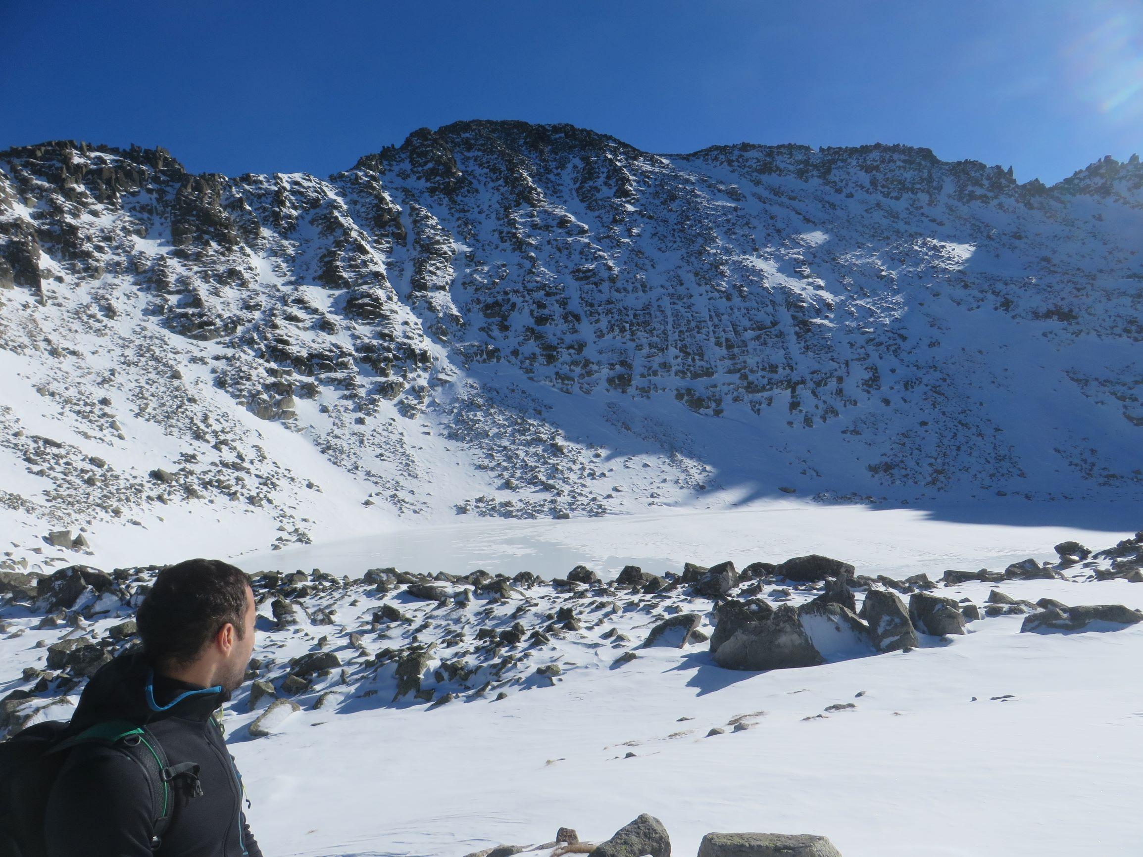 Icy Lake below the Musala peak