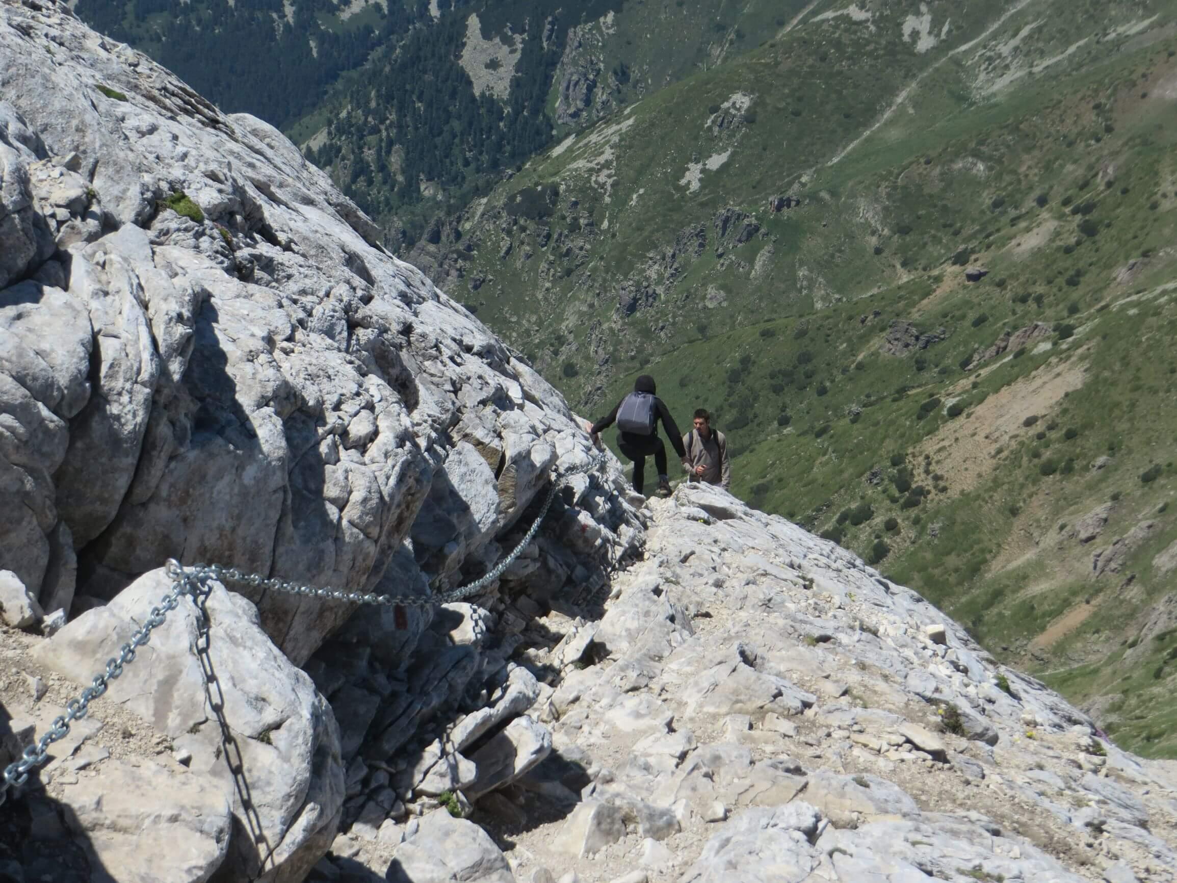 Descending Vihren from the north-west